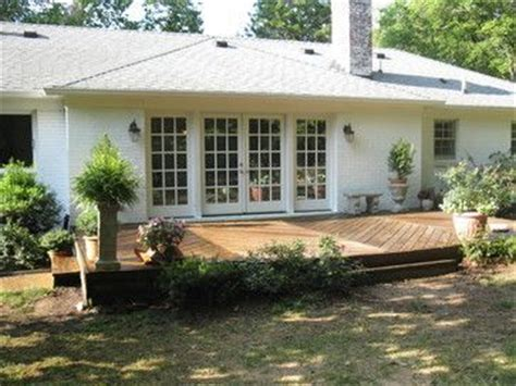 decks on houses ranch house deck ideas french doors deck ranch style house home pinterest