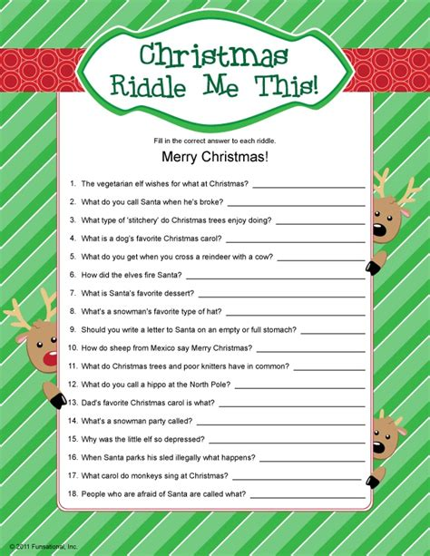 christmas riddle me this christmas ideas pinterest