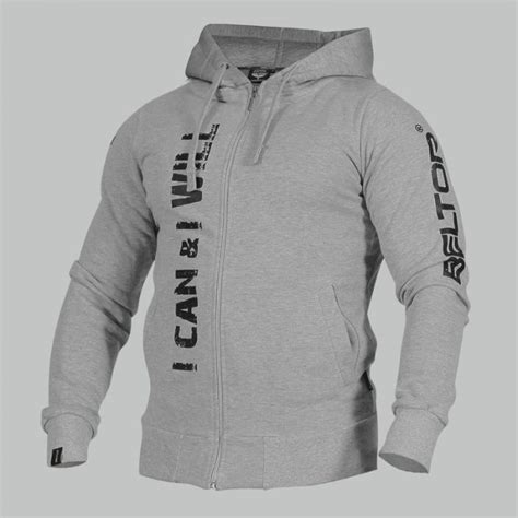 Hoodie I Can And I Will bluza zip hoodie i can i will melange