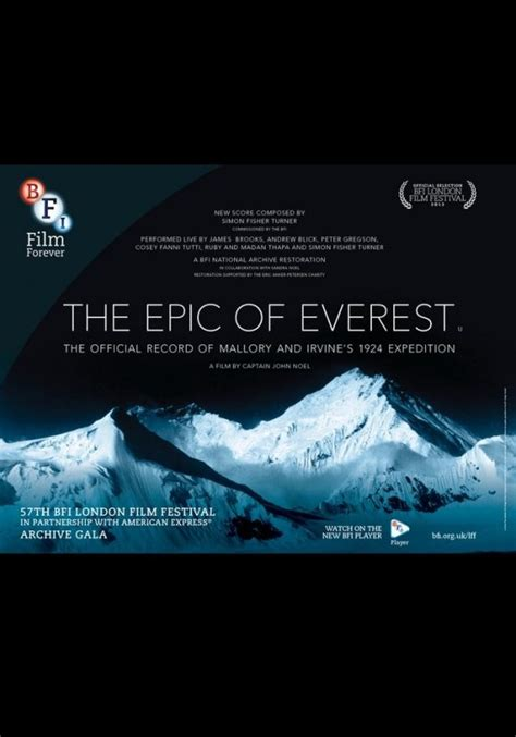 film the epic of everest the epic of everest best for film