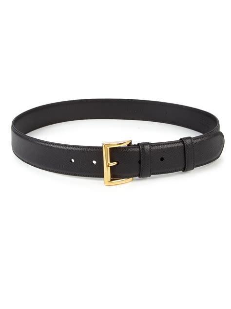 prada saffiano leather belt in black lyst