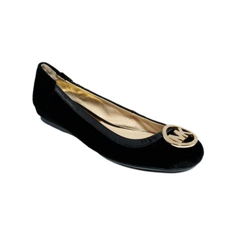 shoes flats black michael kors fulton ballet flats in black lyst