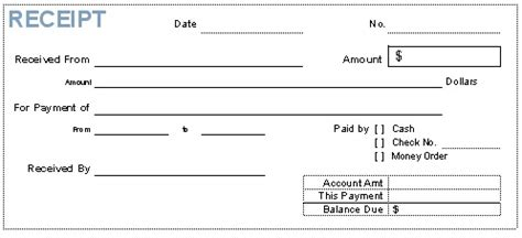 receipt forms free receipt forms for small business