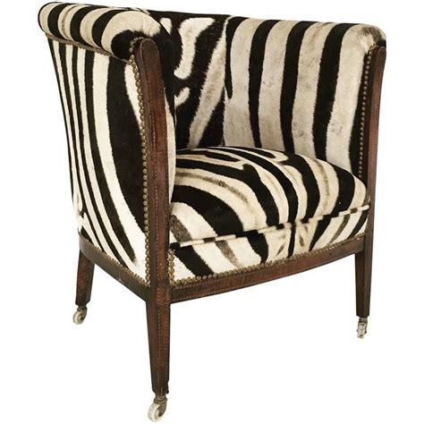 zebra armchair vintage 1930s barrel chair in zebra hide at 1stdibs