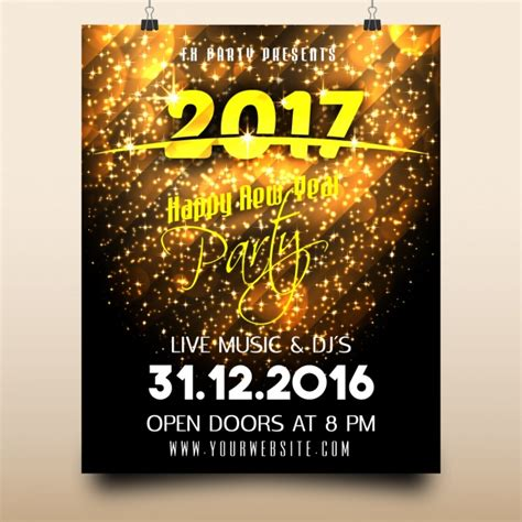 new year design poster new year poster design vector free
