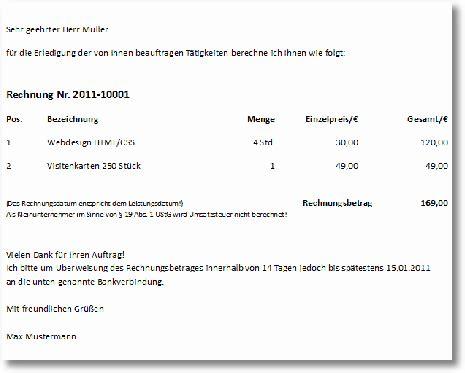 Muster Rechnung Verein 7 restaurant rechnung vorlage lesson templated