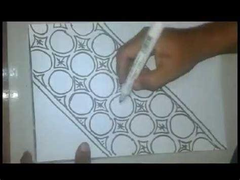 doodle mudah digambar lagu cara gambar batik pola manual asal asalan