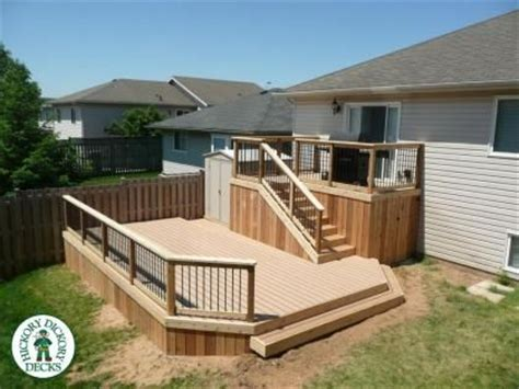 deck designs for bi level homes search deck