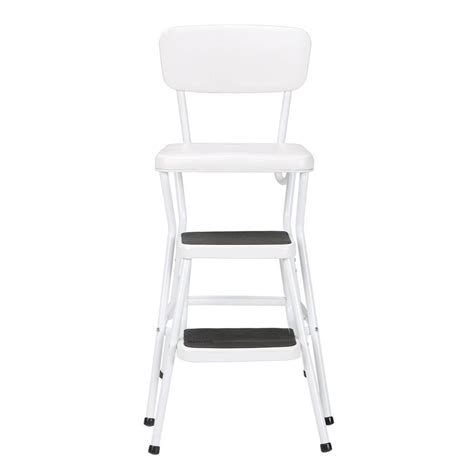 White Folding Bar Stools by Cosco 24 In White Cushioned Bar Stool 11118whte The