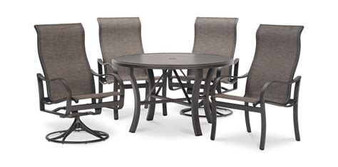 5 Pc Patio Dining Set Shoreline 5 Pc Patio Dining Set By Tropitone Hom Furniture