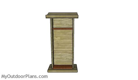 podium woodworking plans myoutdoorplans