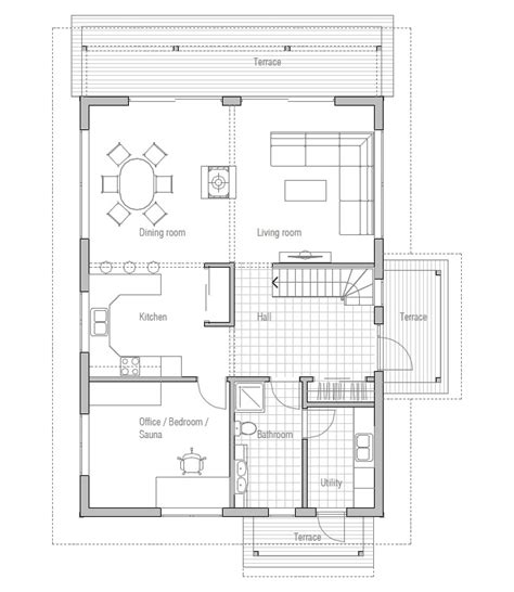 House Plans With Cost To Build Affordable Home Ch137 Floor | affordable home ch137 floor plans with low cost to build