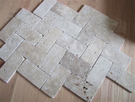 herringbone travertine tile floor live the home life pinterest stove fireplaces and