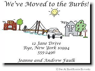 make your own change of address cards moving cards by the personal note use our stick figure