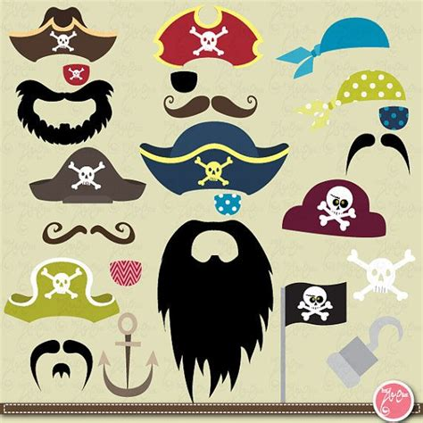 free printable photo booth props pirate pirate clipart clip art set mustache party weddings