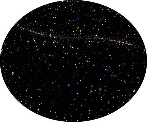 runde sternenhimmel decke mit milchstrasse und