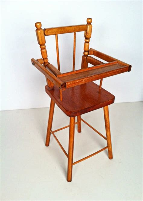 Wooden Doll High Chair Plans by Vintage Cass Company Wood Doll High Chair Cas Vintage