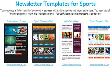 sports newsletter templates 70 best newsletter templates 2016 free premium templates