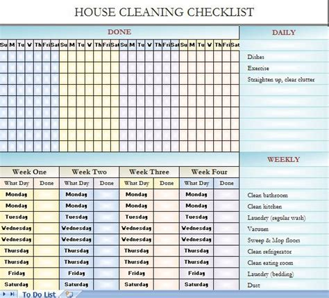 free house cleaning templates 25 best ideas about cleaning schedule templates on