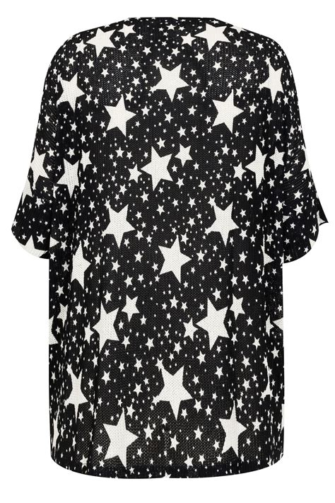 Check Value Of Visa Vanilla Gift Card - blue vanilla curve black white star print top plus size 18 to 24