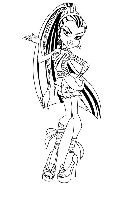 monster high avea trotter coloring pages monster high coloring pages tiny hands pinterest