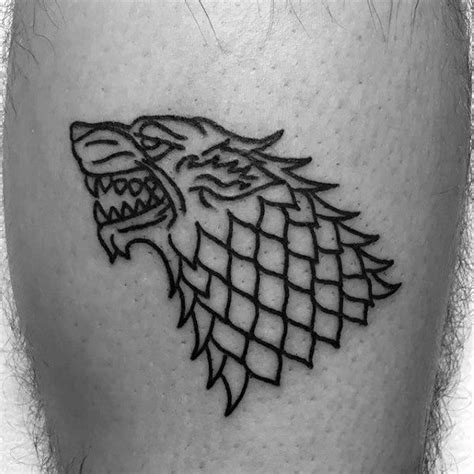 dire wolf tattoo 80 of thrones designs for westeros ink ideas