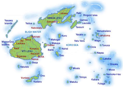 fiji islands map map of fiji