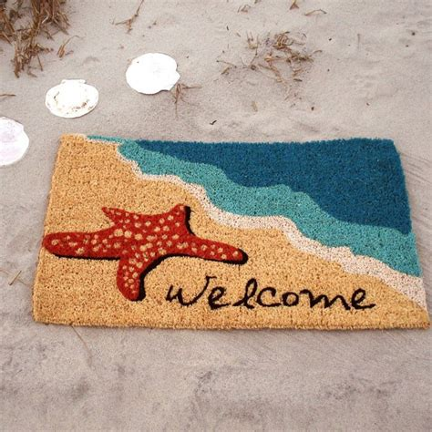 Tropical Outdoor Doormats by Also For A Vacation Home In Hawaii Starfish Doormat