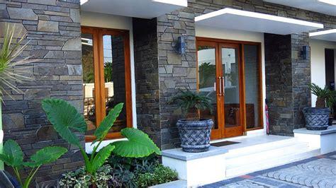 contoh desain teras rumah minimalis  asri  elegan renovasi rumahnet