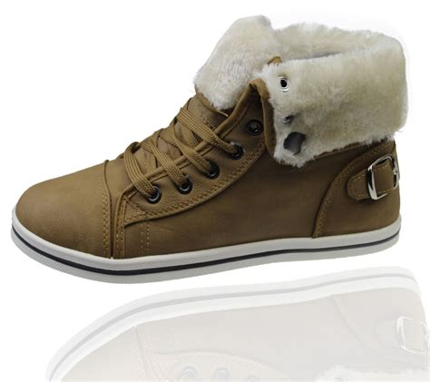 womens warm boots womens warm lined boots high top ankle trainer