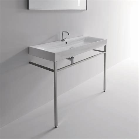 free bathroom sink console sinks wayfair kerasan cento free standing bathroom