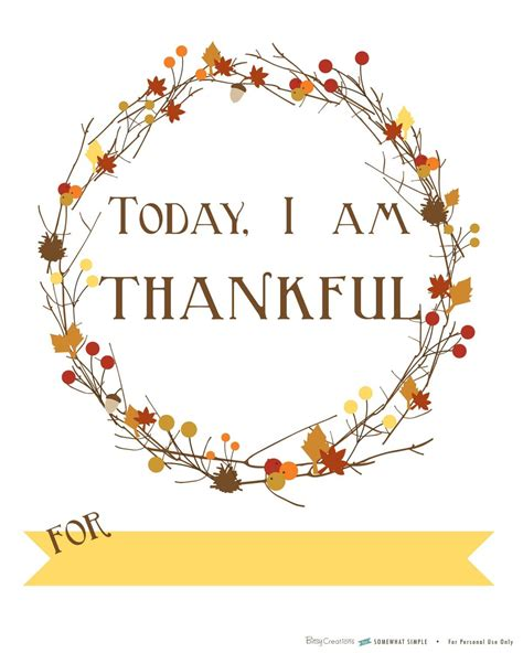 free printable today i am thankful for