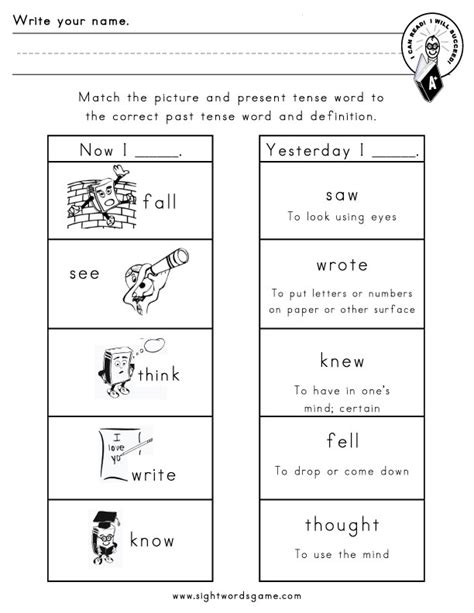 Irregular Verbs Worksheet by Imgs For Gt Irregular Verbs Worksheet