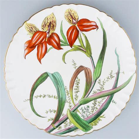 Gorgeous Botanical Plates by Minton Antique Porcelain Beautiful Botanical