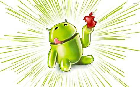 wallpaper apple eating android android eating an apple wallpaper computer wallpapers
