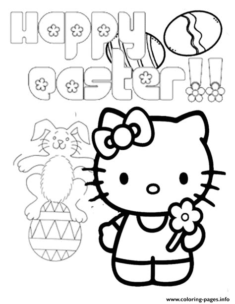 Hello Coloring Pages Easter by Hello Bunny On Egg Easter Coloring Pages Printable