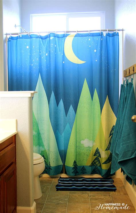 Outdoor Themed Shower Curtains Outdoor Adventure Themed Bathroom Happiness Is
