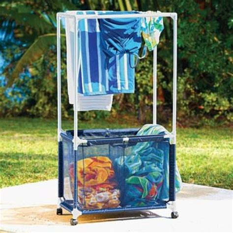 outdoor pool towel storage 1127 best images about made with pvc pipe on pinterest