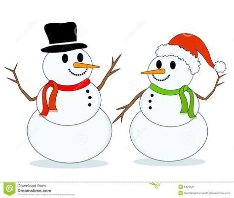 clipart neve boneco de neve bonecos de neve imagem de stock imagem