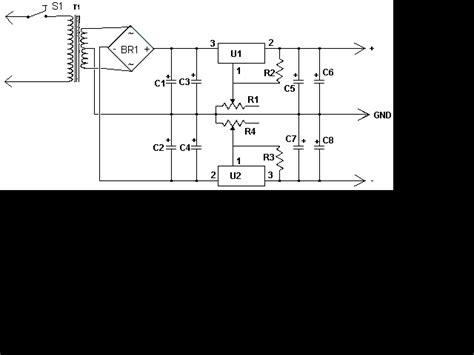dual power supply circuit diagram dual polarity power supply electronic circuit diagram
