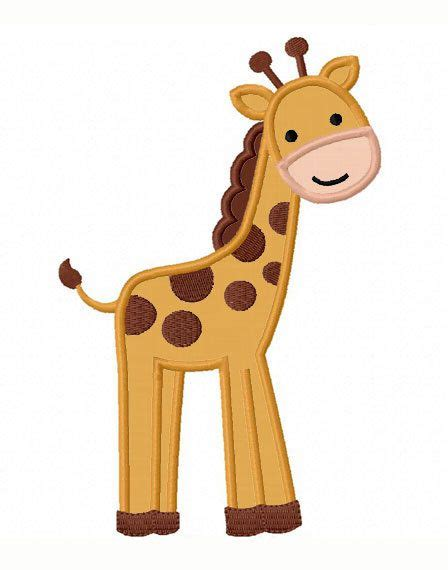 giraffe applique giraffe applique machine embroidery design no 0075