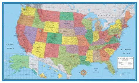 america road map poster 32 24x36 united states usa classic elite wall map