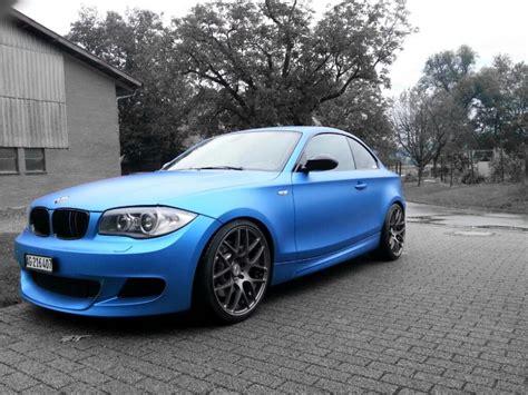 Bmw 1er Matt Blau by E82 Folierung Andonized Blue Bmw 1er 2er Forum