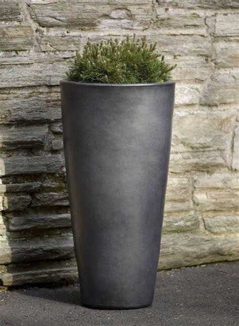 aluan tall  planter  graphite outdoor planters
