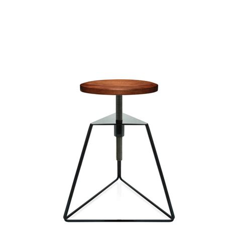 Stool Is Not Solid by The C Stool Solid Black Walnut Seat Black Frame