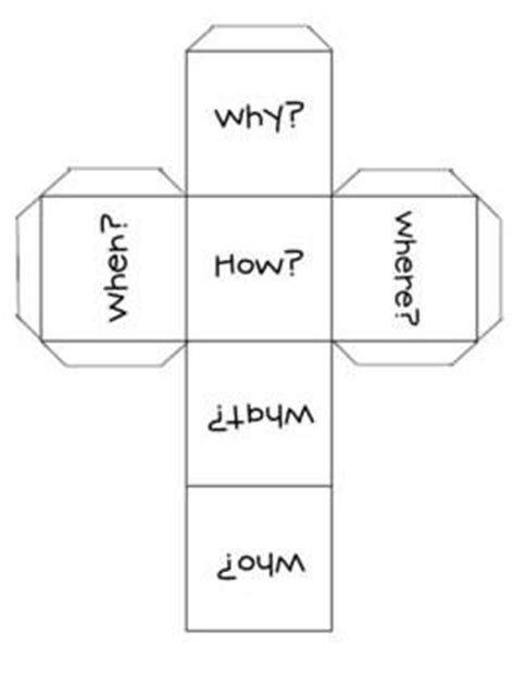 printable question dice 17 best images about questioning on pinterest reading