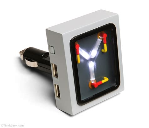 flux capacitor wall charger thinkgeek flux capacitor car charger introduced thinkgeek flux capacitor car charger flux