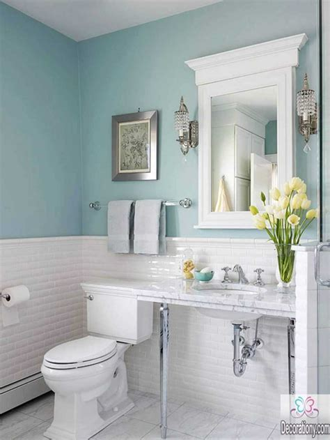 ideas for small bathroom 2018 bathroom colors for small bathrooms ideas pictures and 2018 including stunning sky blue decor