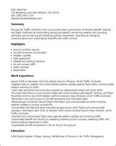 Resume Vs Cv by Professional Air Traffic Controller Templates To Showcase