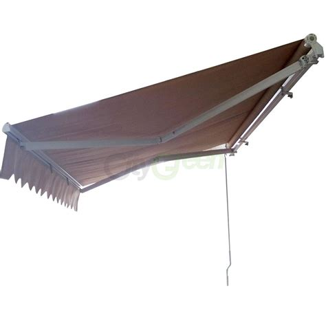 manual awnings for decks manual patio retractable deck awning sunshade shelter